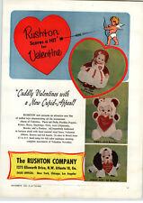 1959 PAPER AD Rushton Plush Toy Animals Little Bo Peep Teddy Bear Pouty Pete