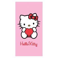 Serviette de plage Drap de bain Hello Kitty rose 75x150 cm beach towel coton