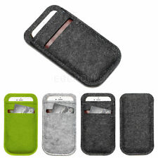 Universal for Mobile Phones Card Wallet Bag Purse Pouch Sleeve Case Woolen Felt