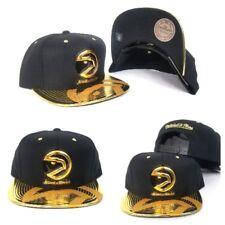 Mitchell & Ness NBA Atlanta Hawks Black / Gold snapback Adjustable Hat Cap