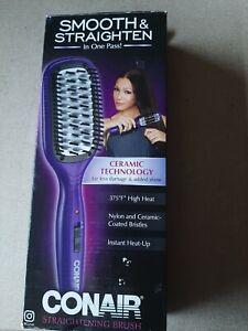 New CONAIR Smooth & Straightening Brush Model BC8 Purple