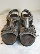 Privo by Clarks Taupe Strappy Slingback Leather/Mesh Sandal Shoes Women's 8.5 M