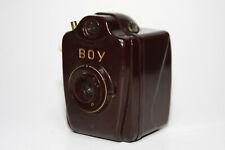 Bilora Boy 6x6 Rollfilm Bakelit Kamera, rotbraun