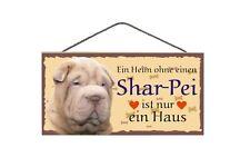 Türschild Shar Pei, Tierschild Hund aus Holz, Holzschild, Wandschild