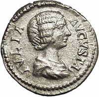 JULIA DOMNA 200AD Rare Ancient Silver Roman Coin Pietas Loyalty Cult i53233
