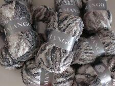 5 Pelotes de laine peluche 100 % Acrylique Mango - 164 dégradé gris