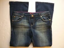 Levis Skinny Flare Womens Size 16 1/2 Plus Jeans Adjustable Waist Dark Wash-O28@