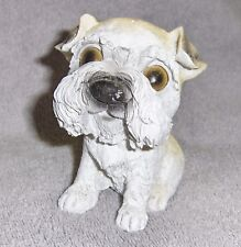 Resin Hand Painted Over Sized Dog Head Schnauzer Prized Puppy Figurine New