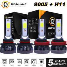 4X Led Headlight Bulbs Conversion Kit 9005 H11 High Low Beam Bright White 6000K (Fits: Scion xB)