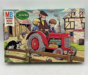 Vintage 1981 Milton Bradley Little Ben Series 100 Pc Puzzle Tractor 4191-2 NOS
