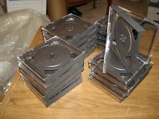 CD or DVD  Jewel Cases NEW ( lot of 20x ) Black and Clear They hold 2 Cd's each