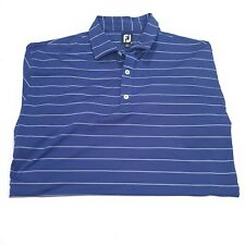 Footjoy Golf Shirt Polo 2XL Blue with white stripes