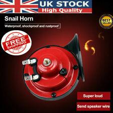 1Pair 12V 300DB Super Loud Snail Air Horn Motorcycle Car Truck Boat Train UK