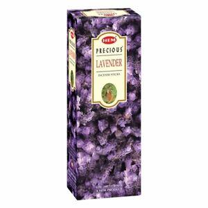 Hem Precious Lavender Incense Sticks Home Fragrance 120 Sticks [20 Sticks Each]