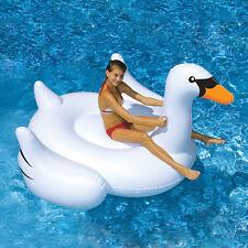 White Jumbo Swan Pool Float and Ride On