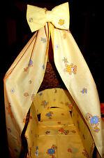Alvi Baby Bettwäsche Set Nestchen Himmel  Bär Blumen gelb  100x135 cm NEU