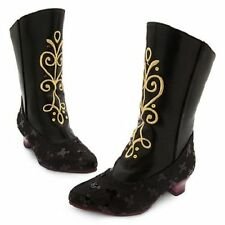 Disney Store Anna Black Boots for Girls Frozen Sequin Size 13/1  NWT