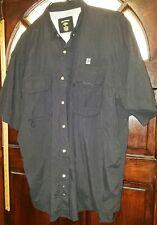 Reel Legends Mens Vented Fishing Shirt Xl Black button up S1