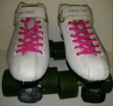Riedell R3 Speed Roller Skates Size 6 Quad Cayman Radar White