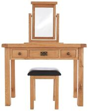 Oak Bedroom Dressing Tables with Mirror