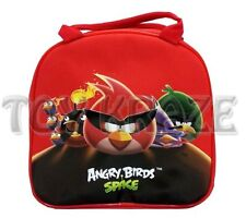 ANGRY BIRDS SPACE LUNCH BOX! RED SCHOOL FREE WATER BOTTLE! SCHOOL TOTE NWT