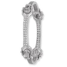 Braccialetto a chiave argento massiccio da donna zircone cubico 25 grammi