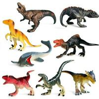 8 Pieces Jumbo Plastic Educational Dinosaurs Model Toy Gifts Kids Children G3Q0