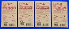 Lot of 4 Packs - HO Scale KADEE # 147 MAGNE-MATIC Metal Couplers 2 Pair per pack