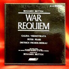 BRITTEN WAR REQUIEM - VISHNEVSKAYA/PEARS/FISCHER-DIESKAU/LONDON SYMPHNY