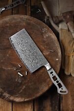 KATSURA Japanese Damascus AUS 10 woodworker Chinese Cleaver blank 6.5in-No logo