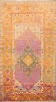 Vintage Anatolian Turkish Geometric Area Rug Wool Handmade Oriental Carpet 3x6