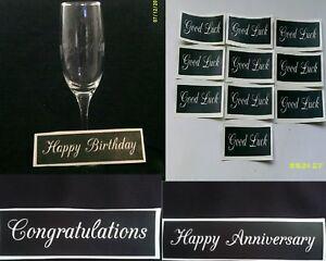 Happy Birthday & Anniversary Good Luck & Congratulations word etching stencils