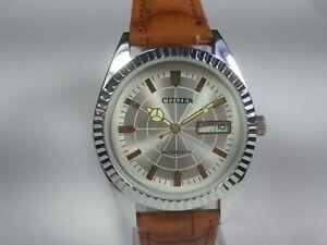 Vintage Citizen Automatic Movement Day Date Dial Mens Wrist Watch TU19