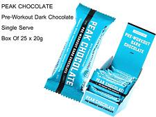 25 x 20g PEAK CHOCOLATE Pre Workout Dark Chocolate - Single Serve