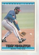 FREE SHIPPING-MINT-1992 Donruss Atlanta Braves Baseball Crd #237 Terry Pendleton