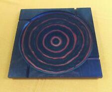 "Vintage Mid-Century SHUR WOOD DESIGNS Ash Tray square w/swirl Large 10"""
