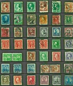 USA United STATES Stamp COLLECTION c1880s-1930s USED Postmark INTEREST Re:QV836a