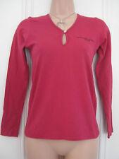 Katharine Hamnett Denim BNWT red long sleeved t shirt size S