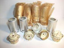 9-pin 55mm Ceramic Tube Sockets for  ECC82 12AX7  ECC83 ECC85 6N2P-EV.Lot of 8.