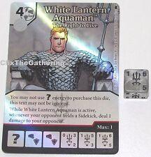 WHITE LANTERN AQUAMAN THE RIGHT T0 LIVE 121 Batman Dice Masters DC Super Rare