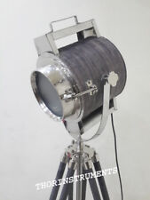 Nautical Search Light Studio Chrome Floor Lamp With Black Tripod Stand Gift