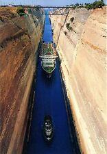 Vieja postal-Corinth-the canal