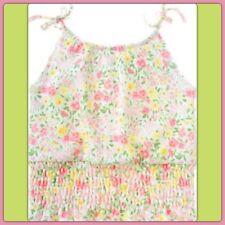 NWOT 6 Gymboree GARDEN BLOOM Cotton TOP ties Shoulder Ditsy Floral Pink Pastels