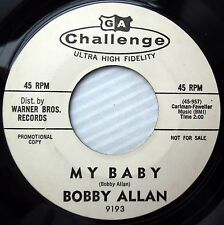 BOBBY ALLAN 45 My Baby Only one 1963 Challenge TEEN Pop WHITE LABEL PROMO e7361