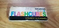 Sylvania Blue Dot MAGICUBES Camera Flash Cubes 3-Pack 12 Flashes NEW but Vintage