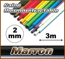 GM02-3# gaine thermorétractable Marron 2mm 3m ratio 2/1  gaine thermo marron