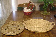 LOT of 2 WICKER Woven Serving Baskets - Arts Crafts Any Occasion