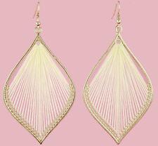T1331 fashion handcraft charm leaf style cute elegant thread dangle earrings new
