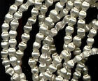 """300 Indented Hollow Silver VINTAGE MERCURY GLASS BEADS micro size 1.5mm OR 1/16"""""""