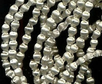 300 Indented Hollow Silver VINTAGE MERCURY GLASS BEADS micro size 1.5mm OR 1/16""
